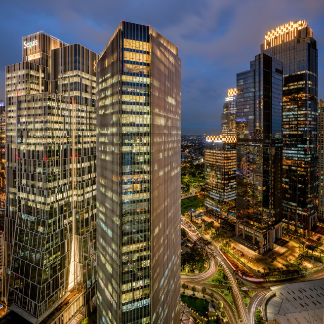 """Sudirman Central Business District / SCBD - Jakarta"" stock image"