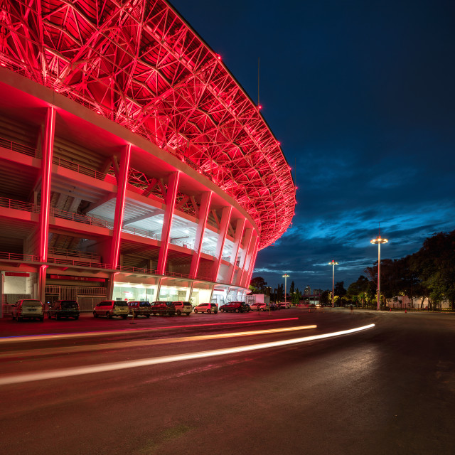 """""""Gelora Bung Karno / GBK JakartaGelora Bung Karno Main Stadium, formerly Gelora Senayan Main Stadium, is a multi-purpose stadium located at the center of the Gelora Bung Karno Sports Complex in Central Jakarta, Indonesia. The stadium is named after Sukarno"""" stock image"""