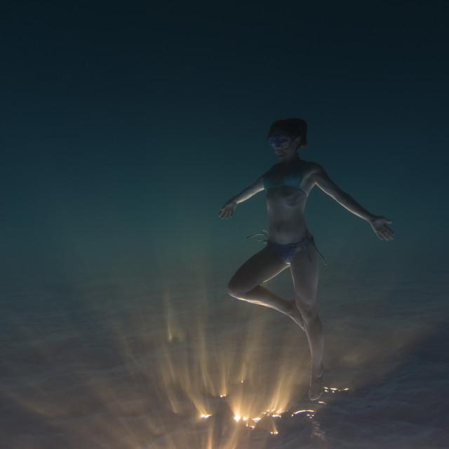 """Sunset dancer"" stock image"