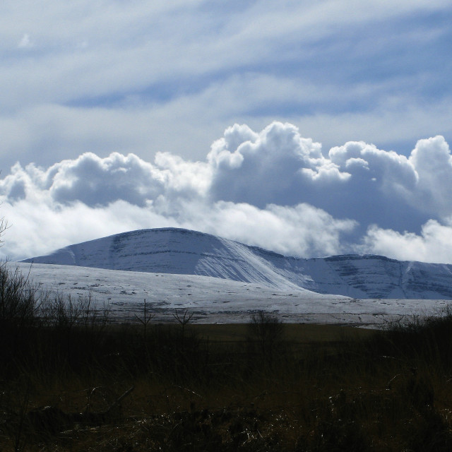 """""""Snowcapped hills"""" stock image"""