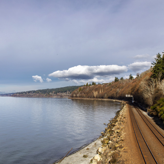 """""""The Rails By Carkeek Park"""" stock image"""