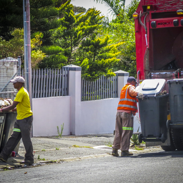 """""""Refuse collection in the suburbs"""" stock image"""