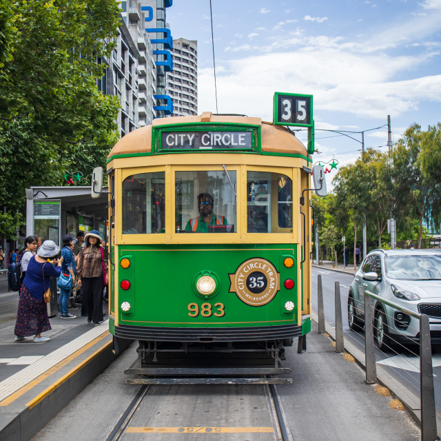 """City Circle Tram, Melbourne, Australia"" stock image"