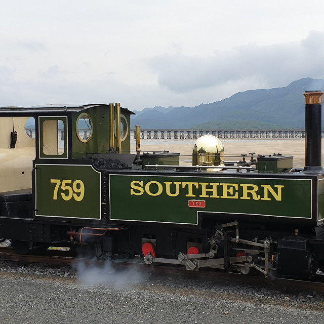 """Fairbourne Railway, Wales"" stock image"