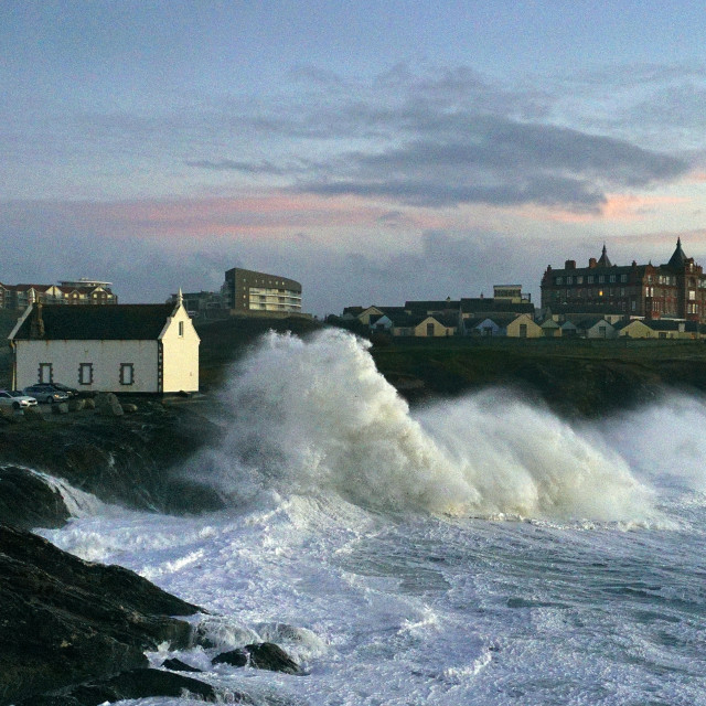 """""""Stormy Little Fistral."""" stock image"""