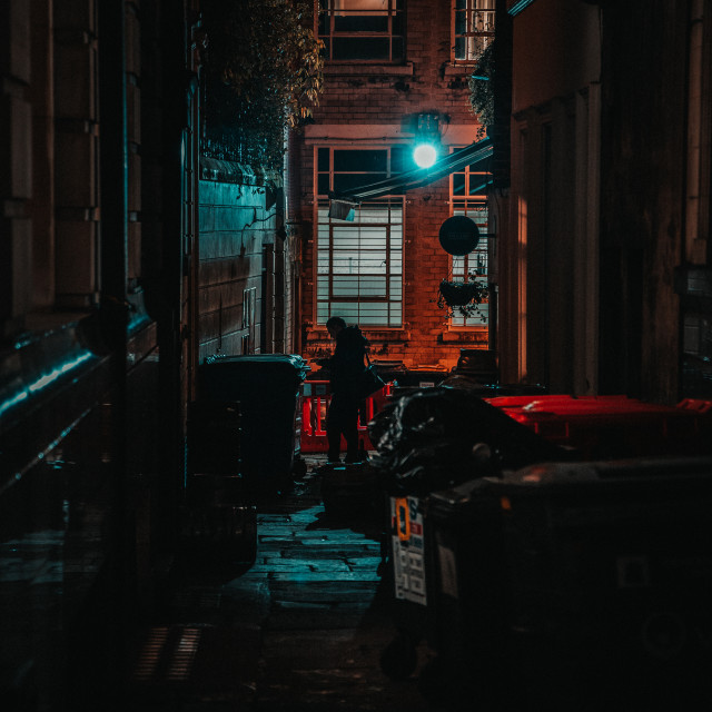 """""""The man in the alley"""" stock image"""