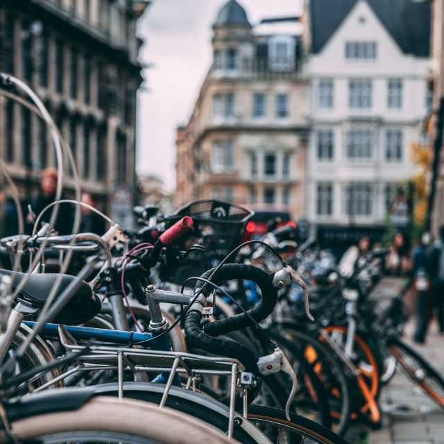 """Pile of bikes"" stock image"