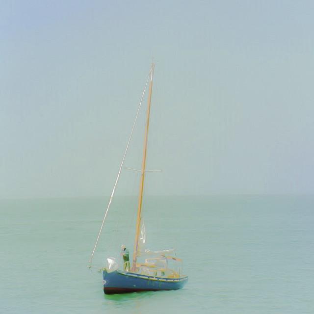 """Pretty Sailboat on Monterey Bay"" stock image"