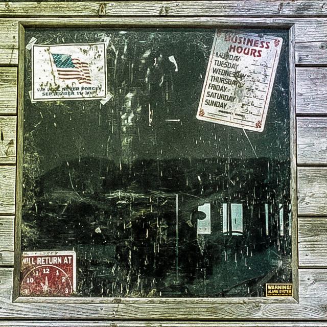 """""""Fishing Shack window on Fisherman's Wharf Monterey"""" stock image"""