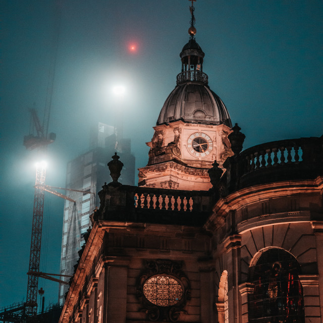 """""""St. Philips in the mist"""" stock image"""