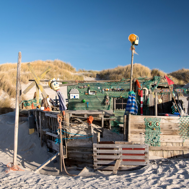 """""""AMRUM, GERMANY - DECEMBER 31, 2020: On the Kniepsand Beach of the North..."""" stock image"""