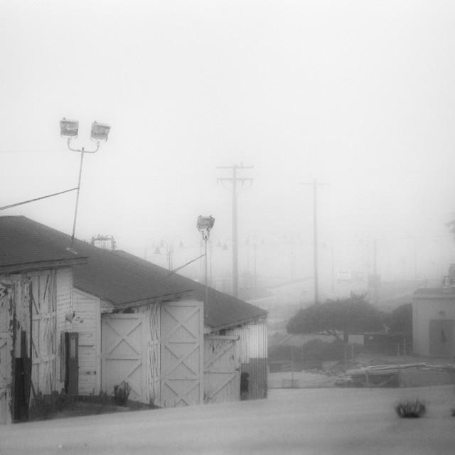"""""""Ft Ord, abandoned army base"""" stock image"""