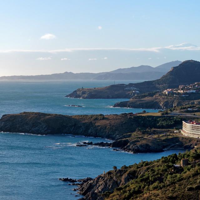 """""""Cerbère coast"""" stock image"""