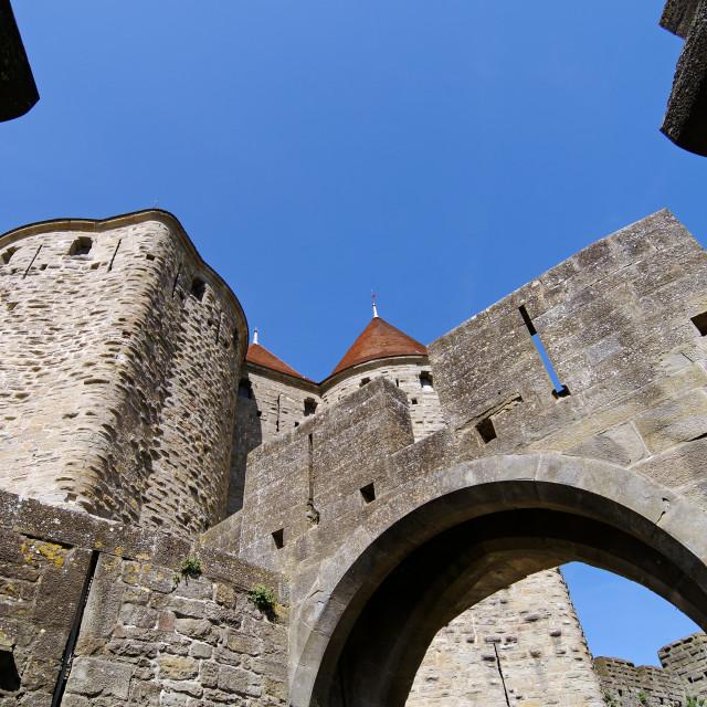 """Carcassonne castle"" stock image"