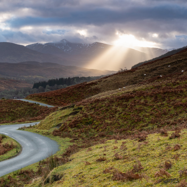 """""""The Road to Glen Roy"""" stock image"""