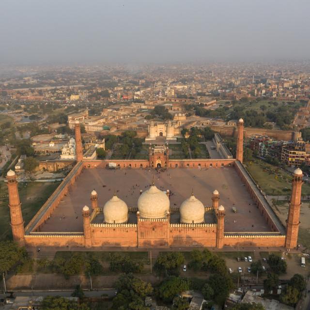 """BadShahi Mosque & Lahore Fort"" stock image"