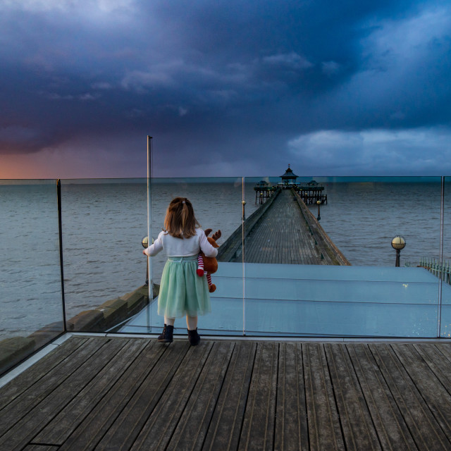 """""""Looking For Santa, Clevedon Pier"""" stock image"""