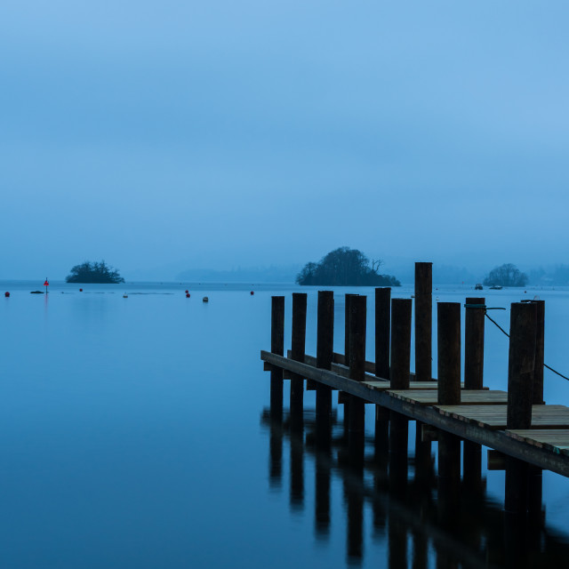 """""""The Blue Hour, Lake District"""" stock image"""