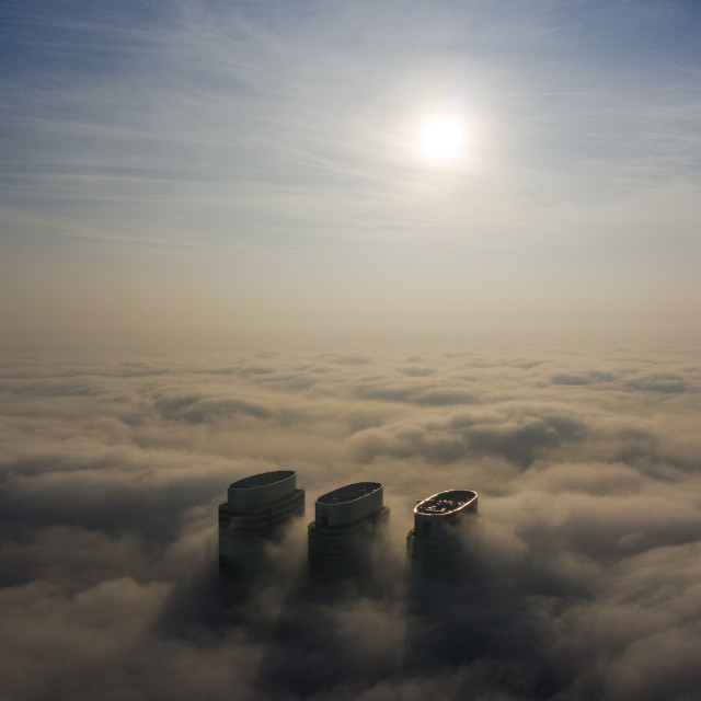 """""""City Under Clouds"""" stock image"""