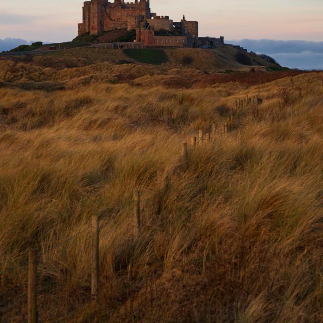 """""""Bamburgh Castle, England"""" stock image"""