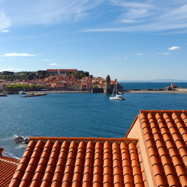 """""""Collioure roofs"""" stock image"""