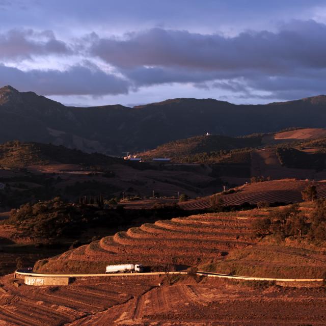 """Eastern Pyrenees Road"" stock image"