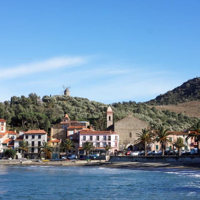 """Collioure village"" stock image"
