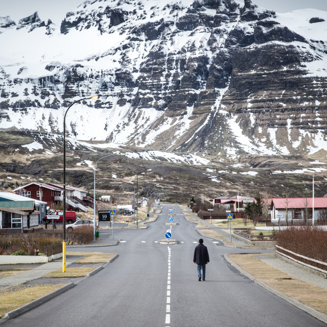 """Street in Iceland"" stock image"