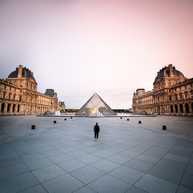 """Louvre early morning"" stock image"