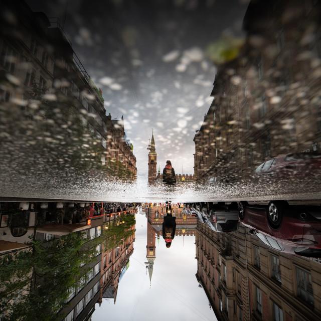 """""""Copenhagen upside down"""" stock image"""