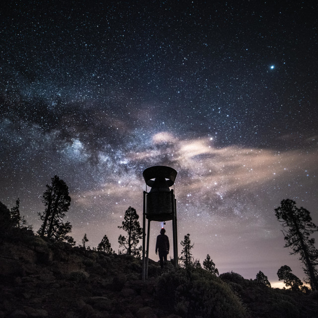 """Hunting for the Milkyway"" stock image"