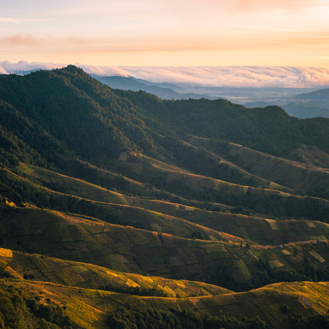 """Zunil Ridge, Guatemala"" stock image"
