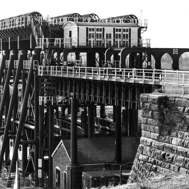 """""""The Anderton Boat Lift, opened 1875 - the first of its kind in the world"""" stock image"""