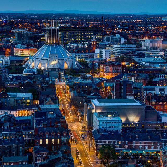 """""""Metropolitan cathedral in Liverpool"""" stock image"""