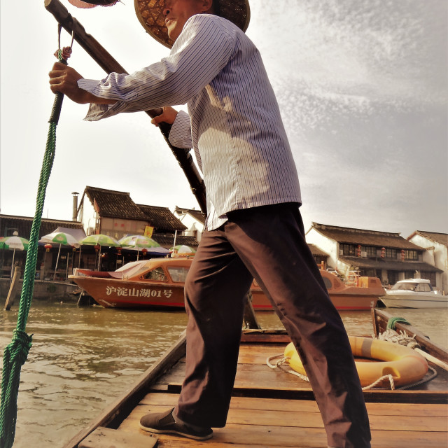 """Boat Man"" stock image"