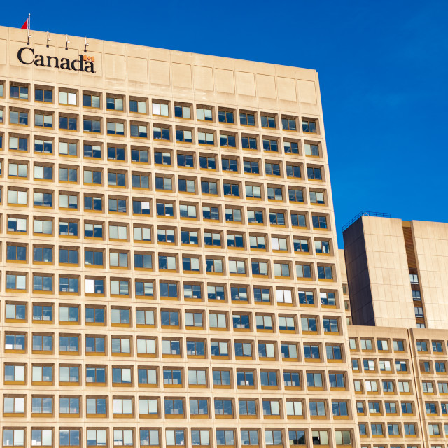 """""""Canada's National Defence Headquarters in Ottawa"""" stock image"""