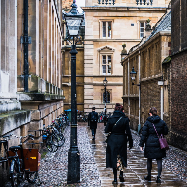 """Senate House Passage Cambridge UK."" stock image"
