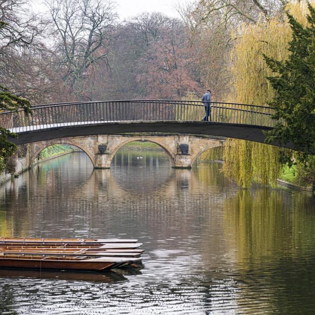 """Garret Hostel Bridge, Cambridge UK."" stock image"