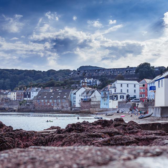 """""""Kingsand Beach, Cornwall UK."""" stock image"""
