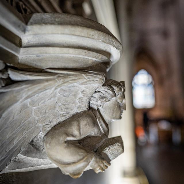 """""""Angel, Catholic Church Cambridge Uk."""" stock image"""