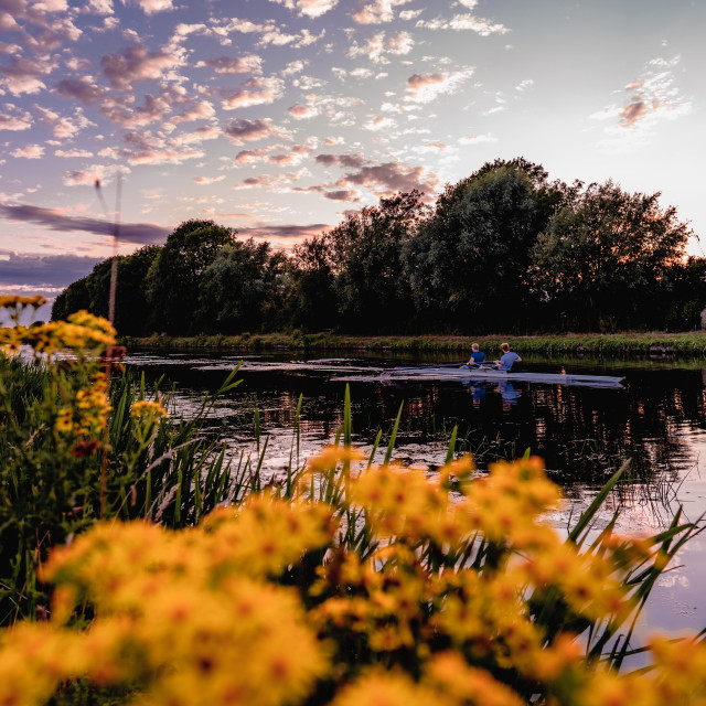 """""""River Cam, Sunset."""" stock image"""