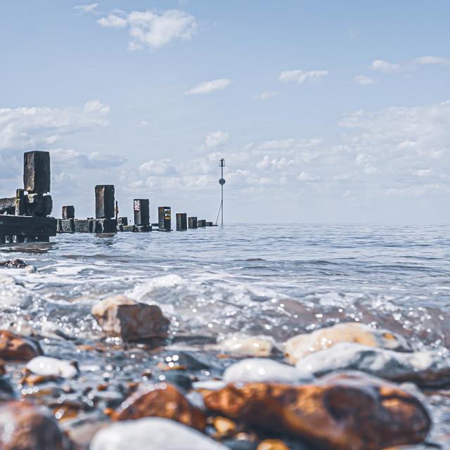 """Hunstanton Beach UK."" stock image"