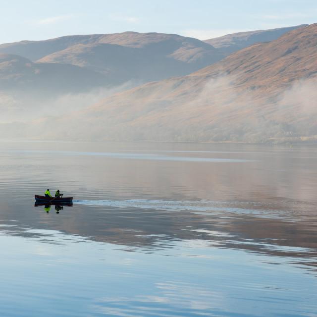 """""""Row Row Row Your Boat, Scotland"""" stock image"""