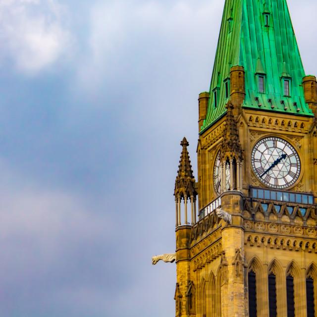 """Peace Tower Clock in Ottawa"" stock image"