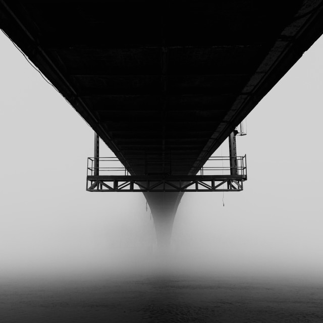 """Under a bridge"" stock image"