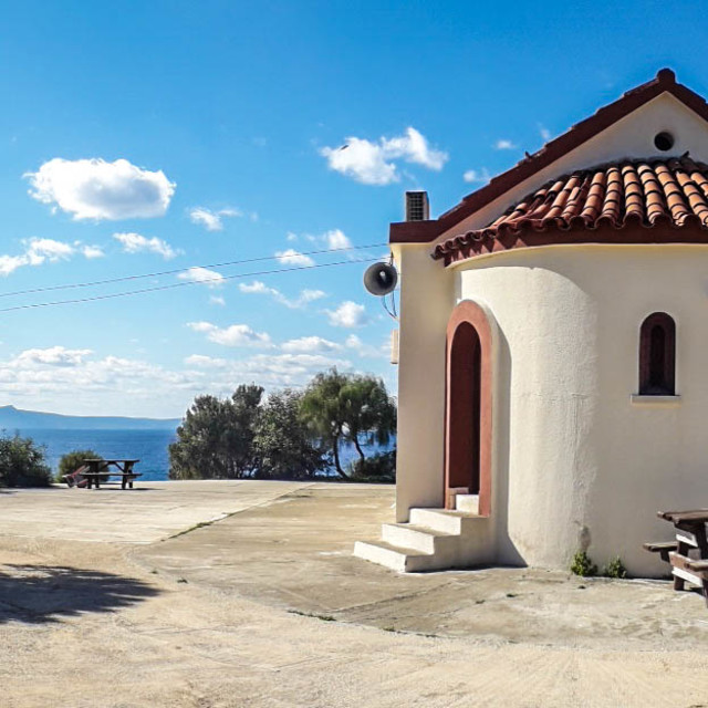 """Church, Nea Dimmata, Cyprus"" stock image"