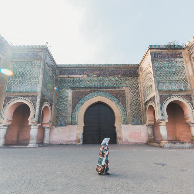 """Gate in Morocco"" stock image"