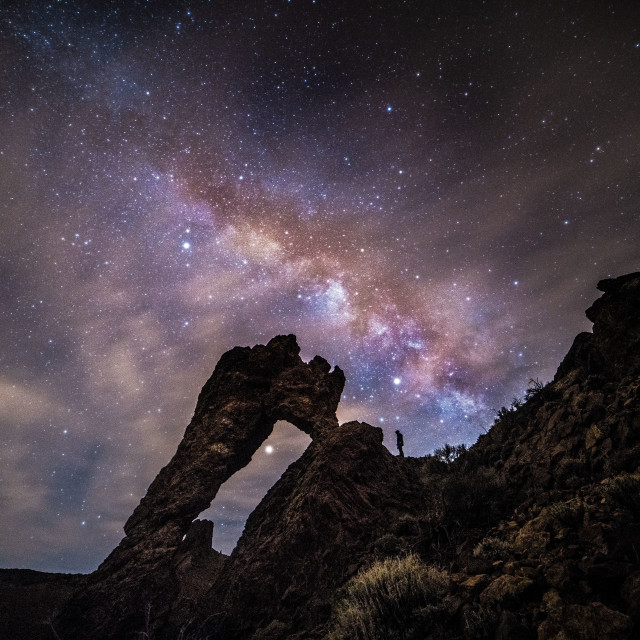 """The man and the Milkyway"" stock image"