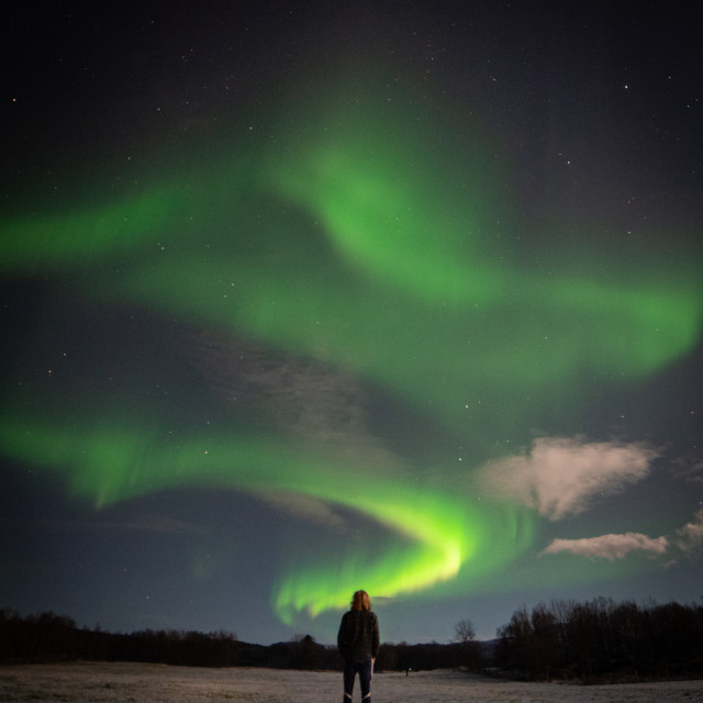 """The Northern Lights"" stock image"