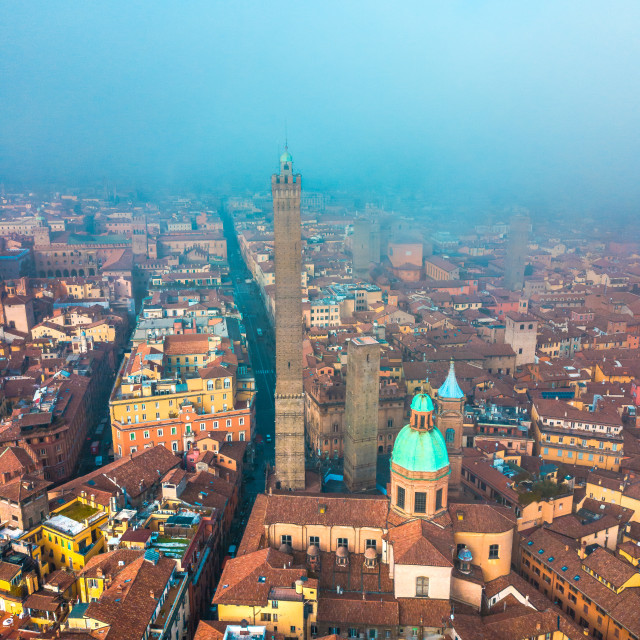 """Bologna towers - Le Due Torri"" stock image"